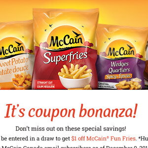 McCain Coupon Contest Website
